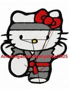 hello kitty embroidery designs | HELLO KITTY KARATE - EMBROIDERY DESIGN