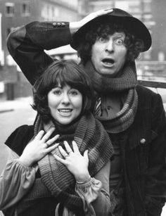 Sarah Jane Smith is my favorite companion on Doctor Who. I really need to find the perfect hand made replica 4th Doctor scarf. For several reasons. One it's an epic scarf, and two I want to tangle up my Sarah Jane in it. ;D