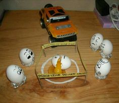 Easter-Crime Scene eggs