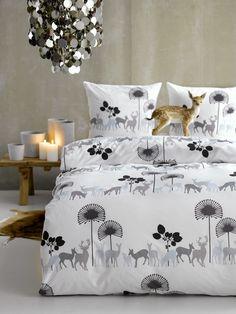 Deer in the Woods Black - design by Susanne Schjerning
