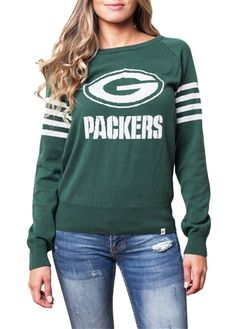 Green Bay Packers Womens Varsity Sweater | SportyThreads.com