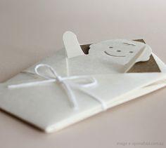 swaddling baby card
