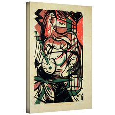 'The Birth of the Horse' by Franz Marc Gallery Wrapped on Canvas