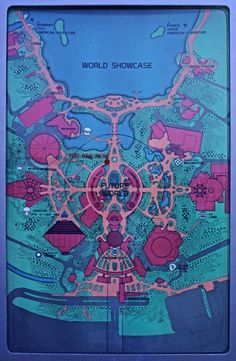"""EPCOT Center Dispay Map """"An EPCOT Center Future World Map as displayed in the park in Jan Note that Horizons still has an October 1983 opening date on the map and that the Living Seas Pavilion. Disney Map, Walt Disney Parks, Disney Posters, Disney Love, Disney Stuff, Museum Poster, Epcot Center, Tokyo Disneyland, Vintage Disney"""
