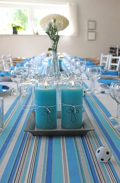 Christening, Event Planning, Teal, Table Decorations, How To Plan, Google, Furniture, Home Decor, Decoration Home