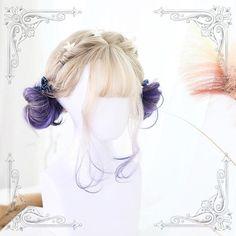 Kawaii Lolita wig with short curls men toupee women toupee Kawaii Hairstyles, Diy Hairstyles, Pretty Hairstyles, Curly Haircuts, Medium Hairstyles, Wedding Hairstyles, Kawaii Wigs, Lolita Hair, Short Curls