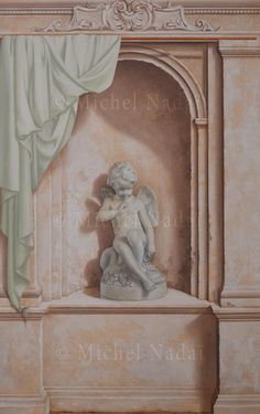 Faux Painting, Mural Painting, Clemente Orozco, Marble Columns, Grisaille, Heaven Sent, Rare Animals, Oui Oui, Statue