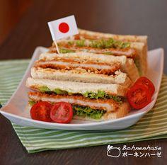 Bohnenhase: Katsu-sando / Japanese Cutlet Sandwich / カツサンド