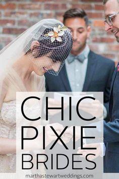 Chic Pixie Brides | Martha Stewart Weddings