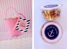Guest Party: Pink and Navy First Birthday Party | Double the Fun Parties