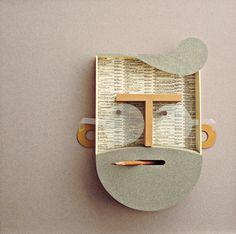 cartoncino colorato canson, cartone accoppiato, meteriali di recupero. cm 41,5×41,5 Masquerade, Abstract, Artists, Summary, Masquerades