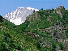 The Dorfertal valley and the Grossvenediger mountain (3,674 m asl)