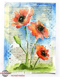 STAMPlorations™ Blog: Stencil Sunday #53 + July Mixed Media Challenge