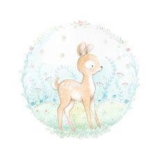 Ilustracion infantil ciervo