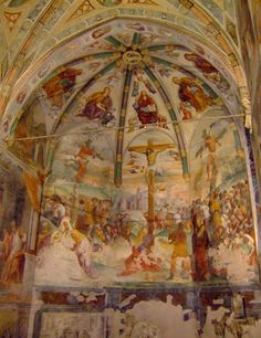 Category:Frescos of crucifixion in Italy Julian Alps, Trieste, Italy Travel, Fresco, Cool Pictures, San, Mamma, Ceilings, Painting