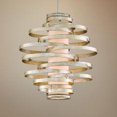 Nice Corbett Vertigo Collection 2 Light Silver Pendant Chandelier Photo