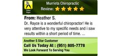 Dr. Rayce is a wonderful chiropractor! He is very attentive to my specific needs and i...