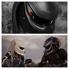 The most badass motorcycle helmet ever. Plus side?! We can match!!