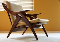 danish teak lounge chair mid-century modern eames-era