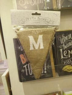 Found in Oyster Gallery Mumbles, Mr & Mrs hessian bunting