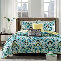jcpenney.com | Madison Park Chantel 5-pc. Quilted Paisley Coverlet Set