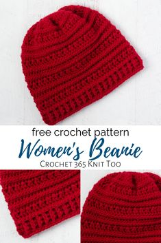 Buckeye Beanie, free pattern for women's hat designed by Crochet 365 Knit Too. hat pattern free women easy Buckeye Beanie - A Textured Crochet Hat - Crochet 365 Knit Too Easy Crochet Hat Patterns, Crochet Adult Hat, Bonnet Crochet, Crochet Slouchy Hat, Knit Or Crochet, Crochet Scarves, Womens Crochet Hats, Crochet Hats For Boys, Crocheted Hats