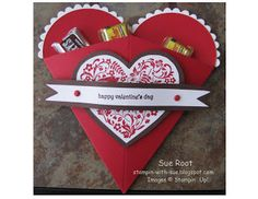Stampin' With Sue: Petal Cone Die Hanging Heart