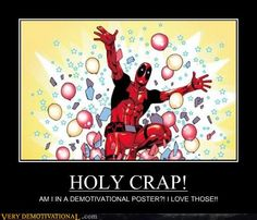 Picture # 56 collection demotivators pictures pics) for February 2016 – Funny Pictures, Quotes, Pics, Photos, Images and Very Cute animals. Deadpool Et Spiderman, Deadpool Love, Otaku, Spideypool, Comic Movies, Geek Out, Marvel Comics, Marvel Heroes, Holi