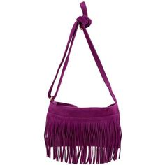 Kate Purple Fringe Leather Cross Body Bag ❤ liked on Polyvore featuring bags, handbags, shoulder bags, purple leather handbag, leather crossbody purse, white leather shoulder bag, leather crossbody handbags and leather fringe purse