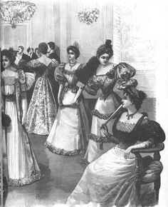 La Mode Illustree Evening Gown Collection 1892
