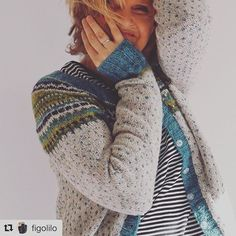 Love this picture by @figolilo - and her Flea cardigan i Rowan felted tweed. #fleacardigan #damejakkaloppa #norskdesign #wool #woollove #ull #rowanfeltedtweed #strikking #knitting
