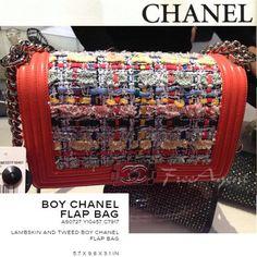 ラージ BOY CNANEL FLAP BAG☆ツィード☆A92727 Y10457 C7917
