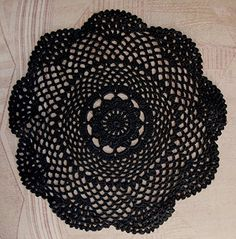 Quasimoon 12' Round Shaped Handmade Cotton Crochet Doilies - Black (2 PACK) by PaperLanternStore ** Remarkable product available now. : home diy kitchen