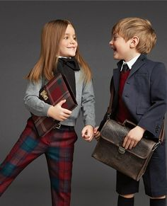 Well my cute fans, we will discuss the kids fashion style and Stylish kids dresses for winter seaso. Fashion Kids, B Fashion, School Fashion, Fashion 2018, Runway Fashion, Fashion Trends, Dolce And Gabbana Kids, Dolce E Gabbana, Kids Collection