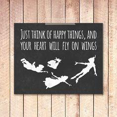 BUY 1, GET 1 FREE! Art Print 8x10, Peter Pan Nursery Poster, Peter Pan Nursery Decor, Kids Room, Wall Art Print, Typography, Home Decor #024