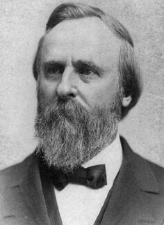"Nineteenth President, Rutherford Hayes  Nickname - ""Dark-Horse President,"" ""Rud"""
