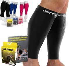 Physix Gear Sport Compression Calf Sleeves for Men & Women - Best Footless Compression Socks for Shin Splints, Running, Leg Pain, Nurses & Maternity Pregnancy - Increase Blood Circulation Shin Splint Exercises, Shin Splints, Calf Compression, Compression Sleeves, Broken Ankle Recovery, Fitness Goals, Fitness Motivation, Support Stockings, Leg Cramps