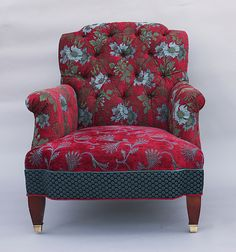 Chelsea Chair in Red Wine: Mary Lynn O'Shea: Upholstered Chair | Artful Home