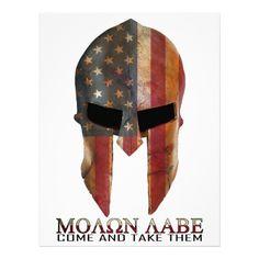 Molon Labe - Come and Take Them USA Spartan Letterhead | Zazzle