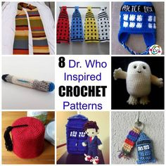 Not long ago we had a post featuring Dr. Who inspired knitting patterns. It was such a big hit and we had so many asking for Dr. Who inspired Crochet patterns that we decided to give you just that… Crochet Geek, Crochet Gifts, Cute Crochet, Crochet Dolls, Crochet Tardis, Beginner Crochet, Crochet Summer, Crochet Round, Single Crochet
