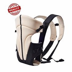 Adjustable Baby Carrier3 Carrying Positions for Infants and Toddlers 314kg 731lbs Soft Cool Air MeshBest Baby Shower Gift Beige White Black >>> See this great product.