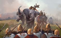 Elephant fright, Pawel Kaczmarczyk on ArtStation at https://www.artstation.com/artwork/er6gw