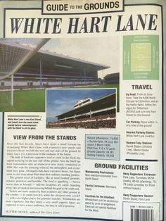 Guide to the grounds. Tottenham Hotspur Football, London Pride, Spurs Fans, White Hart Lane, North London, Soccer, Club, History, Sports