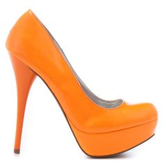Veda Soul Lisa - Neon Orange Patent - on #sale 50% off @ #Heels.com