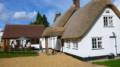 New timber framed extension to listed thatch cottage in Tarrant Gunville, Dorset Cottage Extension, Cabin, Grade 2, How To Plan, House Styles, Cottages, Extensions, Home Decor, Cabins