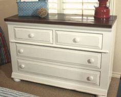 painting dressers white | dresser photo found here