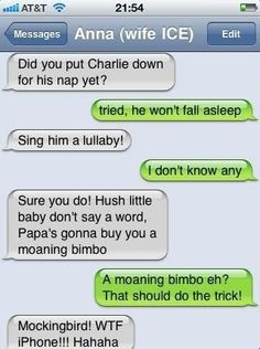 hahahah I actually read the music part right and got to moaning bimbo.. wtff