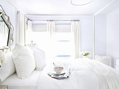 171 best White Beds images on Pinterest in 2018   White bed linens White bedding and White linen bed