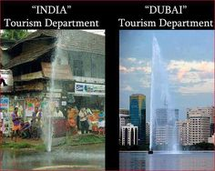 difference between india and dubai