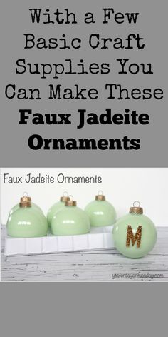 DIY jadeite ornaments